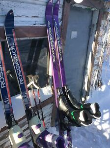 His & Hers Downhill Skis, Size 5/6 (hers) and 7/8 (his)