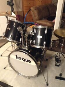 Black or silver drumset