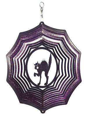 Halloween Scary Wind (SWEN Products HOLIDAY HALLOWEEN SCARY CAT Web Metal Wind)