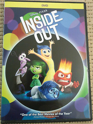 Inside Out  2015 Dvd  Pg  Widescreen  Children  Disney Pixar Animation  Vg