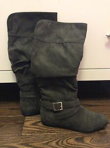 Suede like boots-new