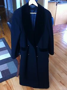 Russian made Black Wool & Velvet Coat