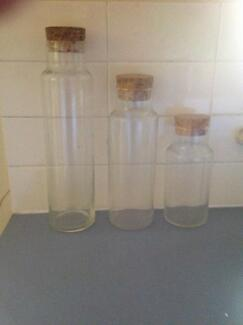 STORAGE CONTAINERS GLASS    X 3 Daceyville Botany Bay Area Preview
