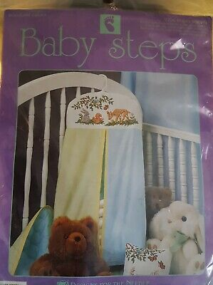 NEW WOODLAND BABIES DIY EMBROIDERED CROSS STITCH DEER BUNNY DIAPER STACKER BAG](Diy Diaper)