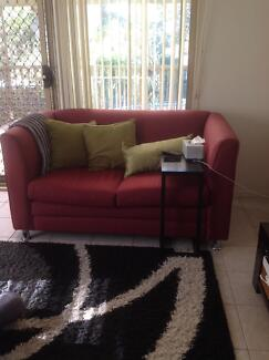 Two seater maroon couch Greenacre Bankstown Area Preview