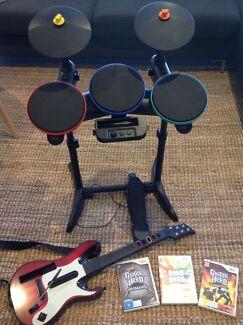 Wii Guitar Hero and Band Hero