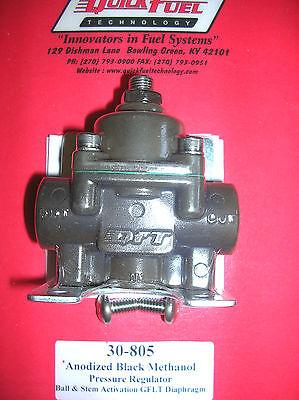 Quick Fuel Carburetor Fuel Pressure Regulator Black Anodized Methanol 30-805