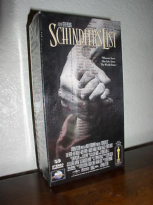 Schindler's List With Fiennes, Kingsley, Neeson (vhs,1997, 2-tape Set,new