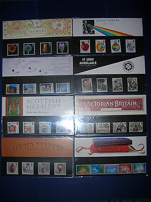 1987 - FULL YEAR'S ISSUE OF EIGHT ROYAL MAIL (MNH)  PRESENTATION PACKS