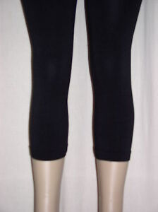 Sexy Rich BLACK Footless Tights DANCE Rave CAPRI Plus LEGGINGS OS fits 1X 2X 3X