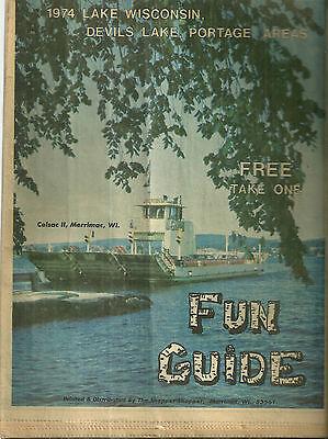 1974 Guide to Lake Wisconsin Devils Lake Portage Area Baraboo