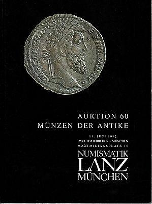 LANZ AUKTION  60  Katalog Kelten Griechen Römer Byzanz Siegel Kaiserreich ?60
