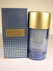 GUCCI POUR HOMME II DEODORANT STICK FULL SIZE NEW 2.7 OZ NEW /SEALED IN BOX