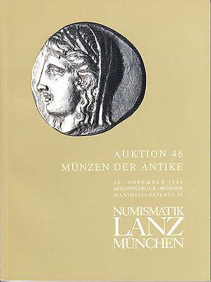 LANZ AUKTION  46 Katalog 1988  Kelten Griechen Römer Byzanz Völkerwanderung ?46