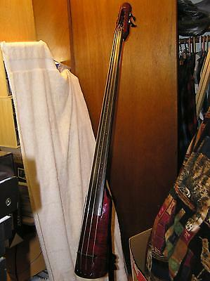 NS Design WAV4 Electric Upright Bass, Cherryburst, Little Use, Beautiful, MINT   on Rummage