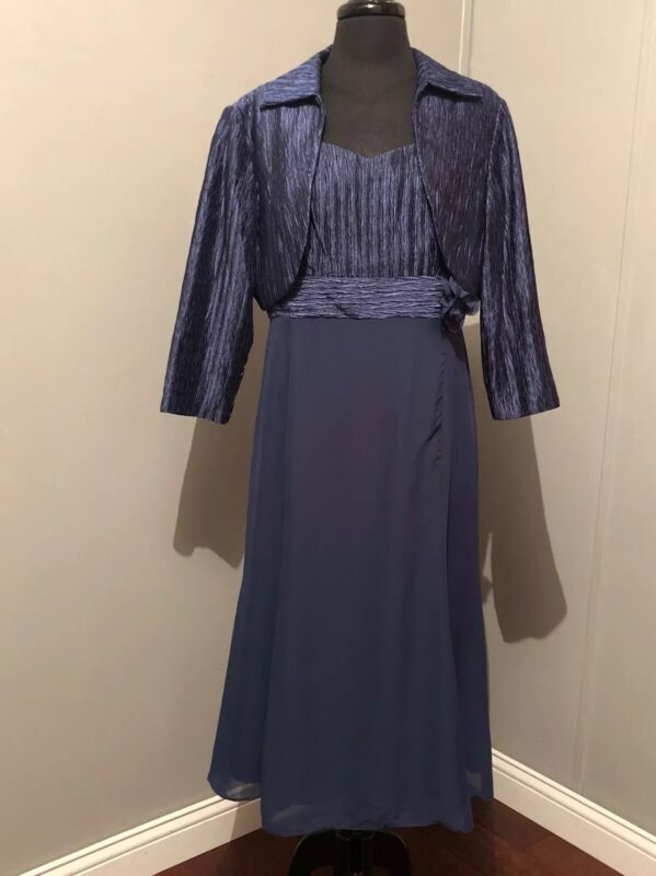 J TAYLOR JACKET DRESS NAVY BLUE SIZE 12 NWT MOTHER OF THE BRIDE , FORMAL
