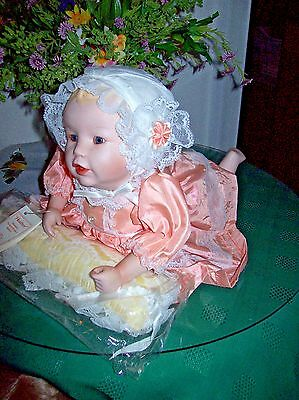 ASHTON DRAKE/KNOWLES/YOLANDA BELLO PORCELAIN  DOLL HEATHER  NEW IN BOX WITH COA