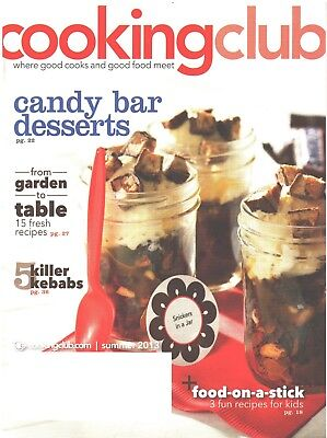 COOKING CLUB Magazine Summer 2013 Candy Bar Desserts Kebabs Kids Food On A Stick - Candy Kabobs