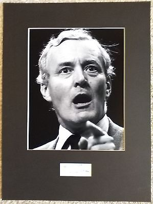 Tony Benn Authentic Hand Signed Display AFTAL COA The Labour Party