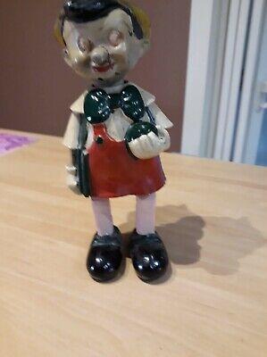 Ancien jouet Pinocchio mécanique 1950