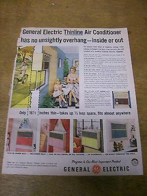 Original 1957 GE General Electric Thinline Air Conditioner Magazine Ad