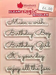 Woodware Clear Magic Make a Wish stamp set - FRS009