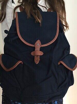 NWT Abercrombie & Fitch AF Canvas Backpack Bag Purse Handbag