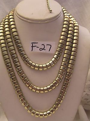 (Gorgeous 3 Shades of  Gold Jewelry Necklace Choker New 15