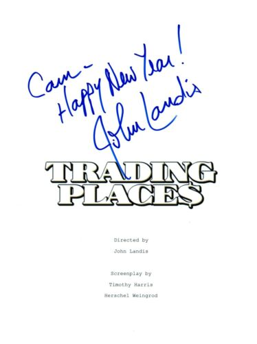 John Landis Signed Autographed TRADING PLACES Movie Script COA