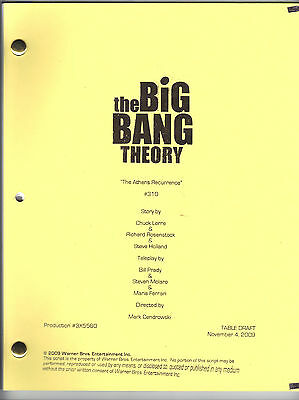 """THE BIG BANG THEORY script """"The Athens Recurrence"""""""