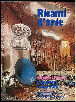 RICAMI D'ARTE 1 PRIMAVERA ESTATE 1976 UNCINETTO RICAMO TAGLIO CUCITO MODA