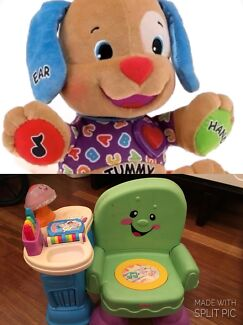 Fisher Price Laugh n Learn Song and Story Activity Chair and Toy Puppy