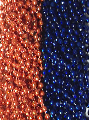 Blue Orange Broncos Mardi Gras Beads Football Tailgate Party Favors Lot 24 48 72 (Mardi Gras Party Supplies)