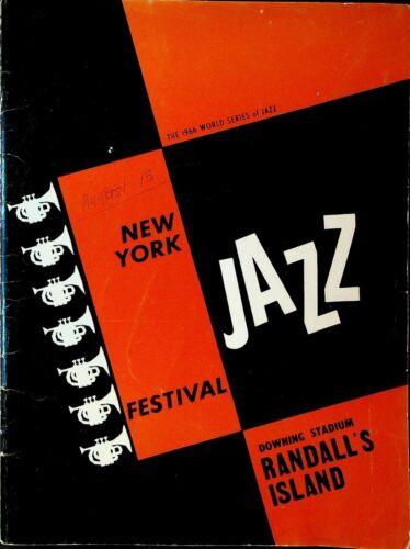 New York Jazz Festival Program 1966 Dizzy Gillespie Lou Rawls Redd Foxx