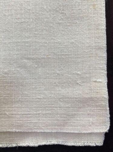 """antique unused linen fabric handwoven 19.5"""" w by 72"""" long uncut, great texture"""