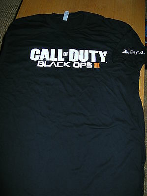 E3 2015 CALL OF DUTY BLACK OPS 3 GAME T-SHIRT(XL) SONY PLAYSTATION 4 ACTIVISION