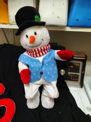 Rare GEMMY ANIMATED CHRISTMAS SNOWMAN PLUSH PLAYS FLO RIDA LOW & DANCES