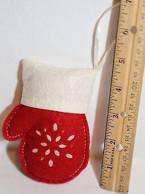 "HOLIDAY CHRISTMAS Stocking Mitt Stuffed Felt ORNAMENT ~4.5"""