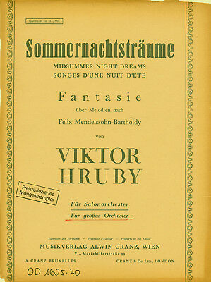 Viktor Hruby: Sommernachtsträume. Für großes Orchester - Stimmensatz - Noten
