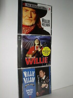 3 Willie Nelson CDs: Very Best of Willie/16 Biggest Hits/Nite (Willie Nelson Best Hits)