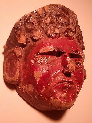 Antique, Used/Worn, Ethnographic, Child's Wooden Mask Guatemala (Guatemalan)
