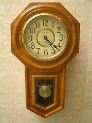 3pt8 SCHOOL HOUSE QUARTZ PENDULUM REGULATOR WALL CLOCK WESTMINSTER CHIME