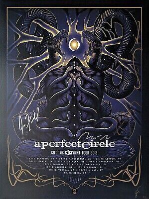 A Perfect Circle Tour Poster - SIGNED BY THE BAND - Official
