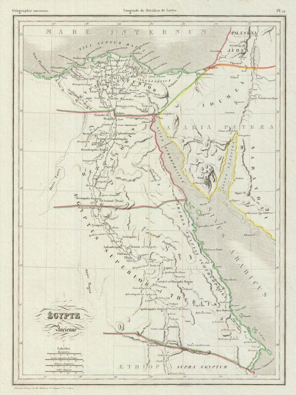 1843 Malte-Brun Map of Ancient Egypt