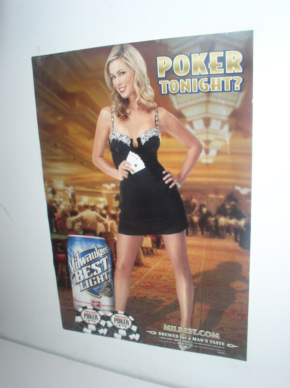 OLD MILWAUKEES BEST BEER 2008 POKER POSTER NEW