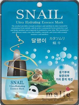 Malie Ultra Hydrating Essence Maskpack Korean Masksheet cosmetics SNAIL 1 pcs