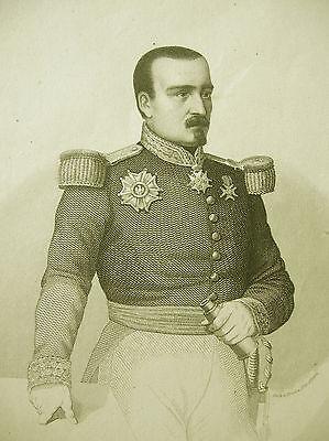 Marschall Bosquet Original Stahlstich um 1840