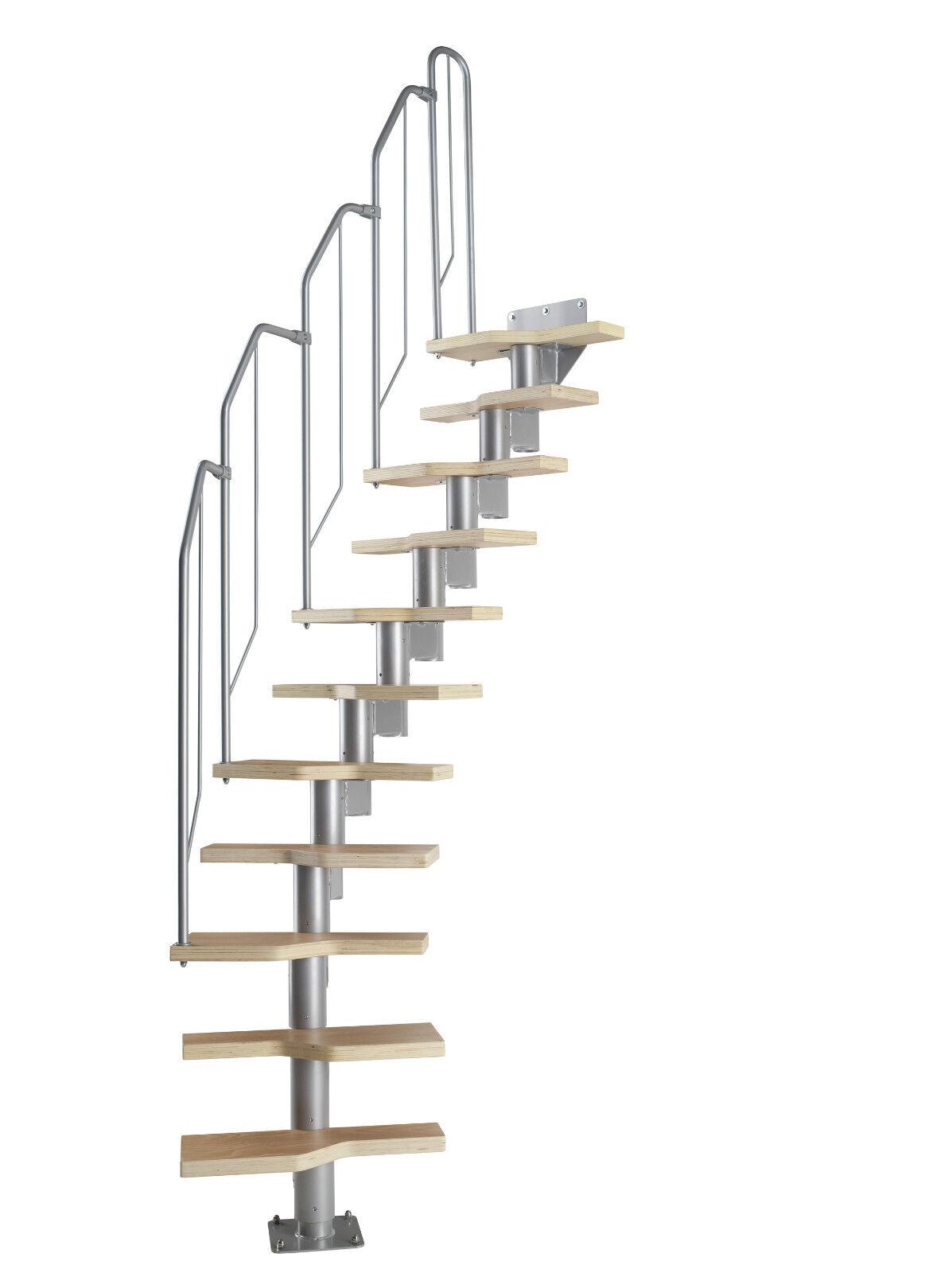 raumspartreppe mit buche holz stufen geschossh he 222 276 cm einfache montage eur 379 49. Black Bedroom Furniture Sets. Home Design Ideas