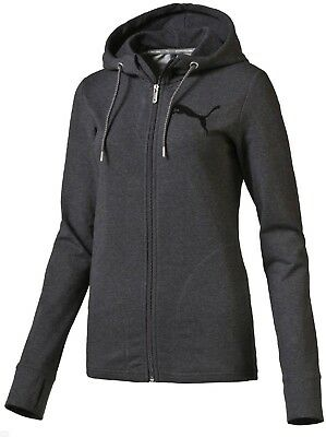 Ladies Women's New PUMA Hoody Hooded Jacket Sweater Hoodie Jumper Pullover Grey