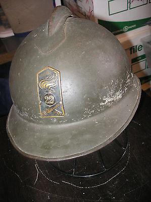 Italian Model 1917 Steel Helmet Green 1-piece round holes 22nd Field Artillery